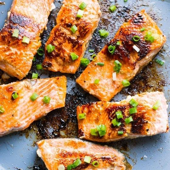 Honey Garlic Salmon Crispy Salmon Recipe Ifoodreal Com