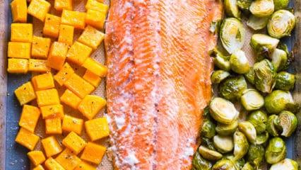 One Pan Salmon and Veggies
