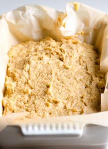 Coconut Flour Banana Bread before baking