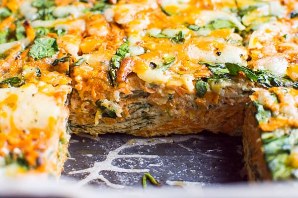 Sweet Potato Egg Casserole cut