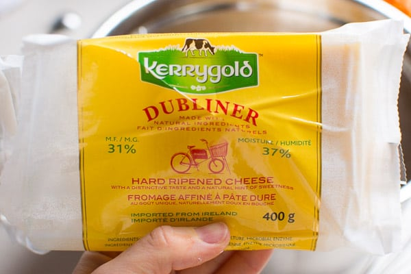 package of Dubliner hard ripened cheese