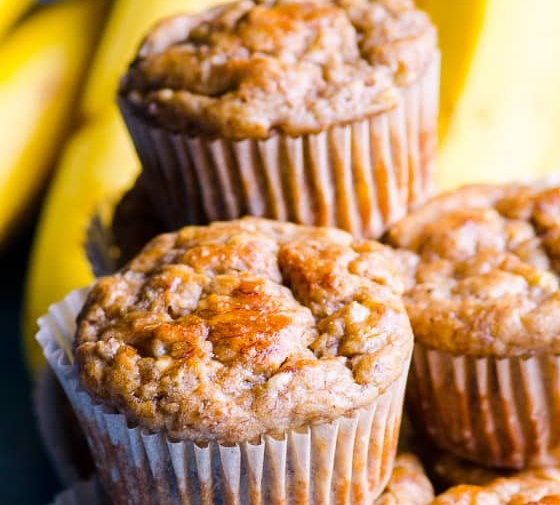 Healthy Banana Muffins (Video)