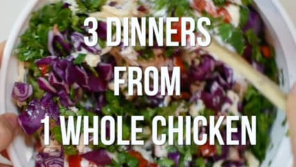 Three Dinners from One Whole Chicken