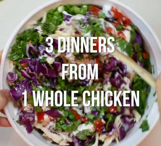 Three Dinners from One Whole Chicken (Video)