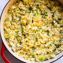 Healthy Chicken and Rice Casserole in One Pot