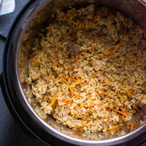 Instant Pot Chicken and Rice (Video)