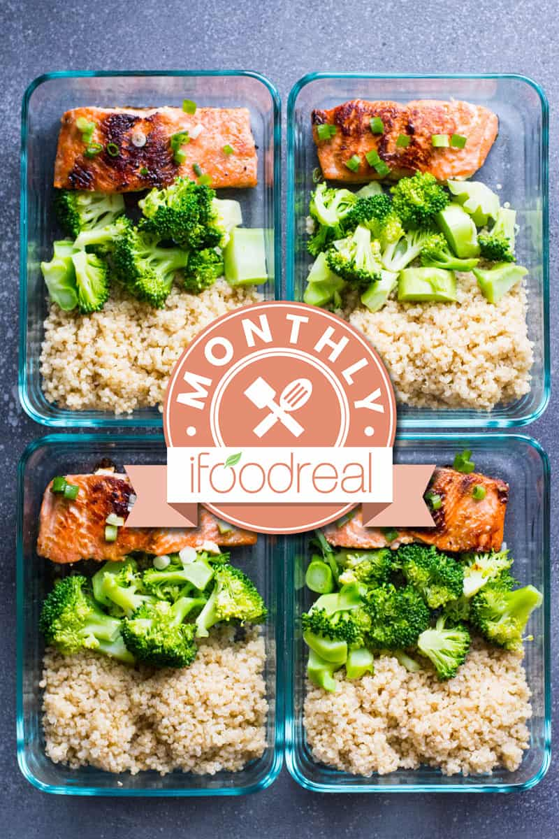 Learn how to do Healthy Meal Prep including breakfast, lunch, dinner ideas and recipes, our weekly meal prep routine and enter to win Cosori pressure cooker. #ifoodrealmonthly