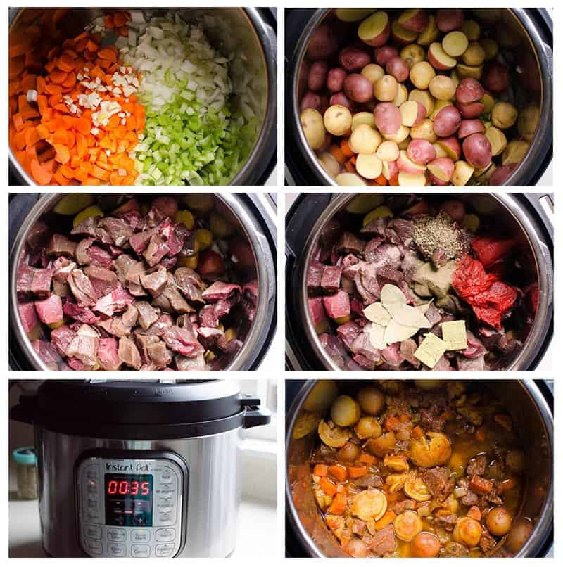 how to make Beef Stew in instant pot step by step