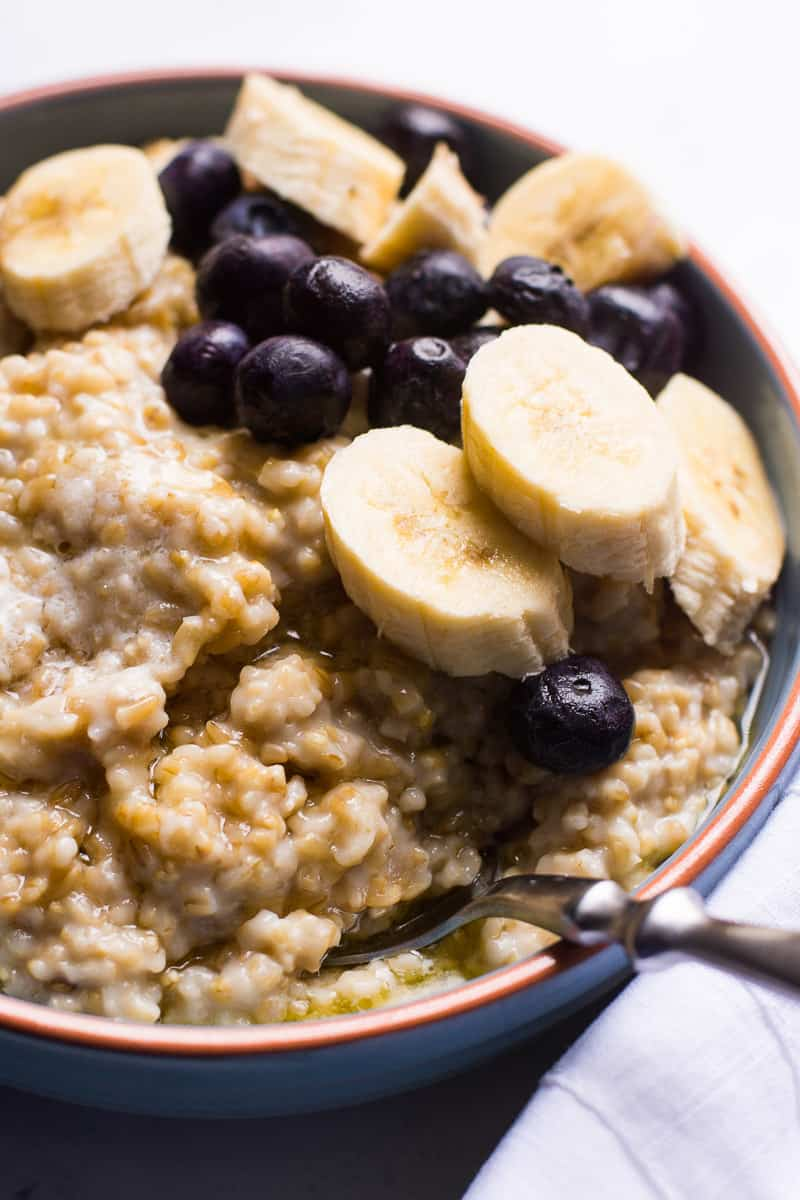 Instant Pot Steel Cut Oats Recipe made perfectly creamy with a crunch. The biggest advantage of pressure cooker steel cut oatmeal is that you don't have to stir it.