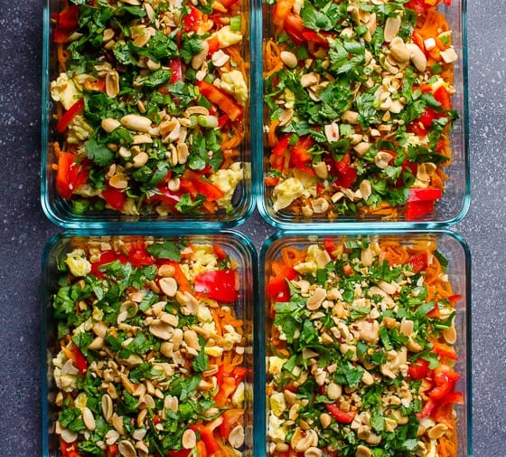 Pad Thai Sweet Potato Meal Prep