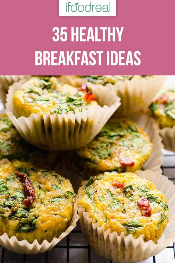 Egg muffins is one of 35 healthy breakfast ideas