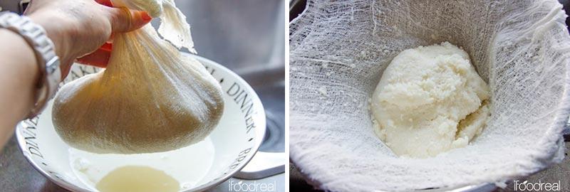 squeezed cauliflower pizza dough ball