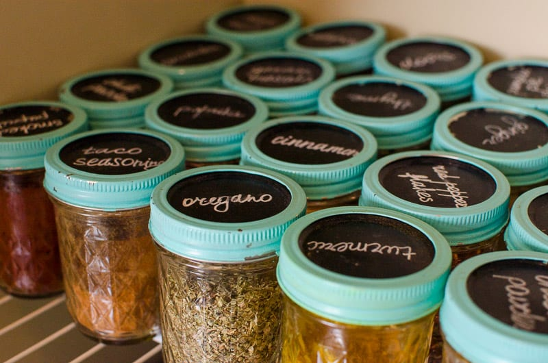 How to organize any pantry dirt cheap with what you have on hand and widely available canning glass jars.
