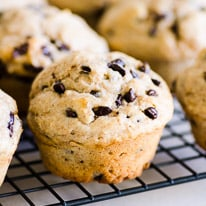 Healthy Chocolate Chip Muffins