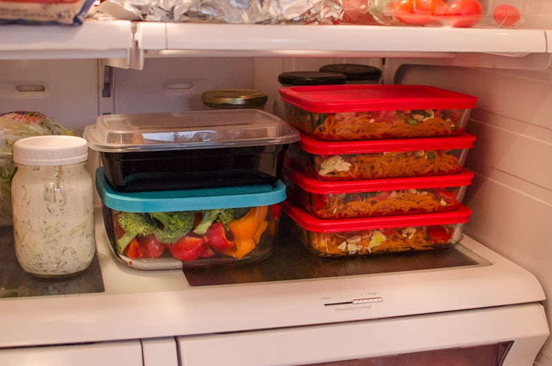 How I streamline my weekly meal prep to make both adults and kids happy, and so I don't cook every night and we don't eat crap.
