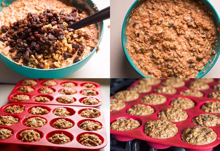 How to make healthy carrot muffins step by step