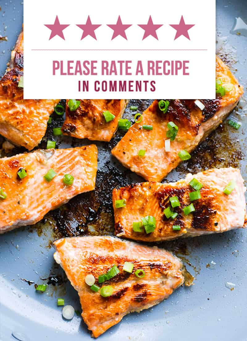 All Recipes Contain Nutritional Info and You Can Rate Them!