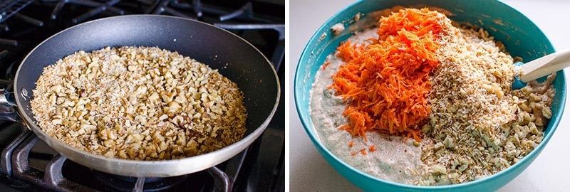 how to make healthy carrot cake step by step