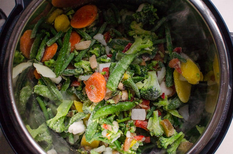 frozen vegetables in Instant Pot