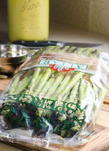 asparagus in plastic bag