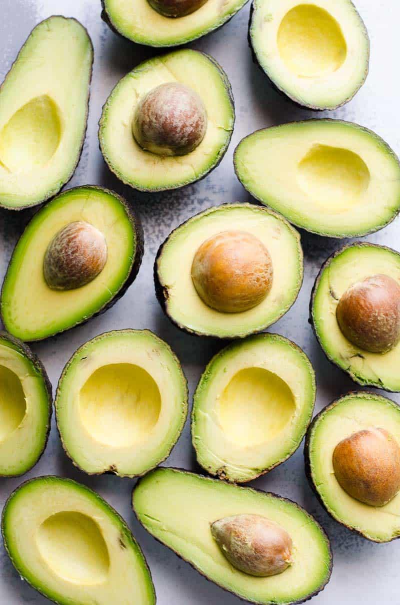 sliced avocados for avocado salad