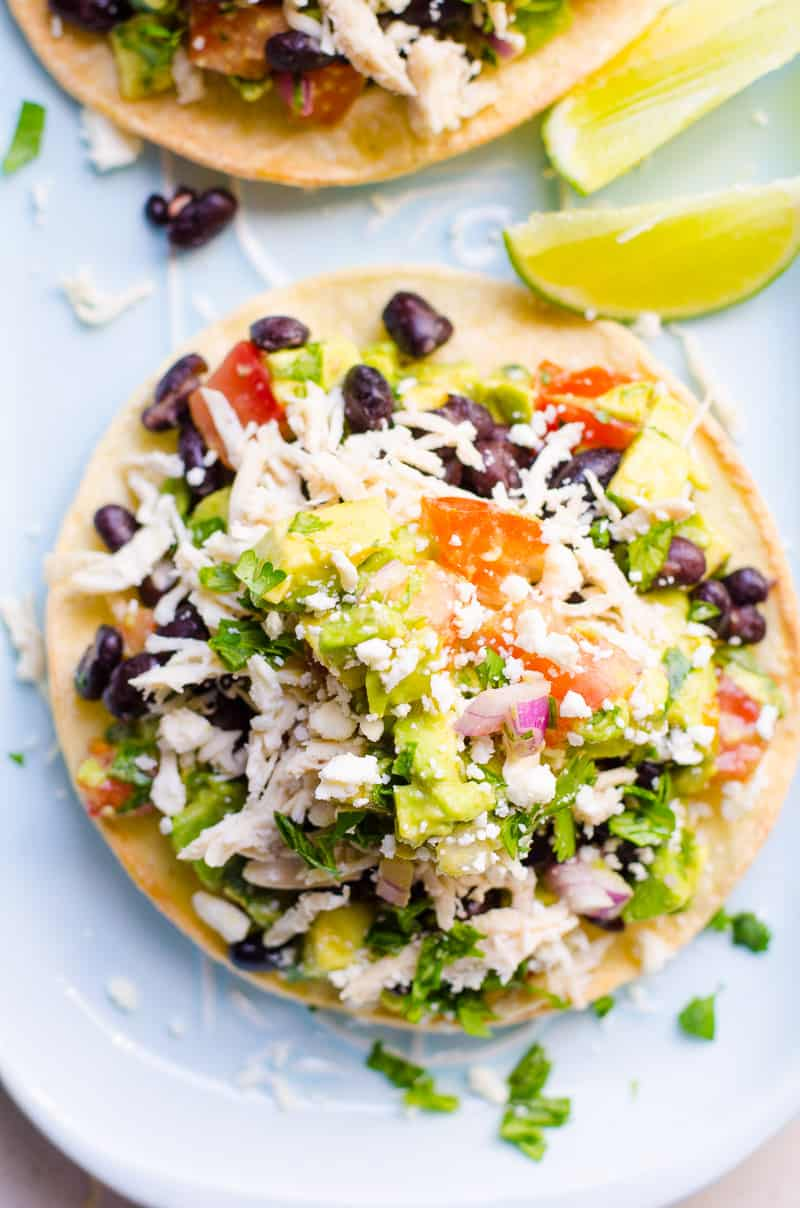 20 Minute Chicken Tostadas Ifoodreal Healthy Family Recipes