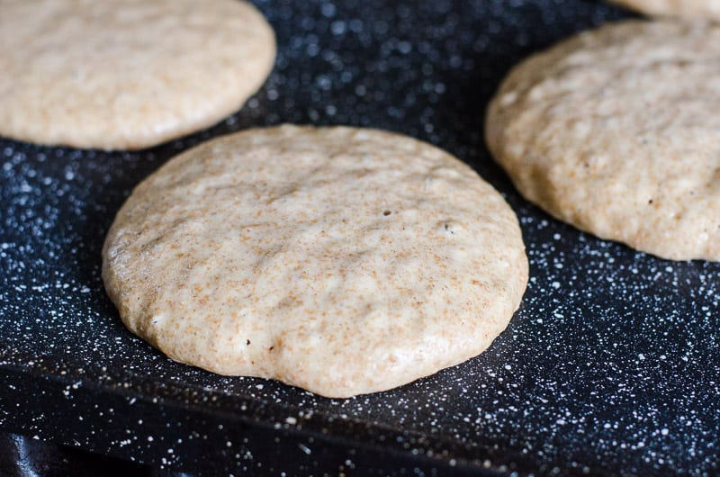 The most tasty and fluffy healthy pancakes recipe in the world made with whole wheat flour and buttermilk or leftover yogurt whey (hi, Instant Pot yogurt). Your kids will love these!