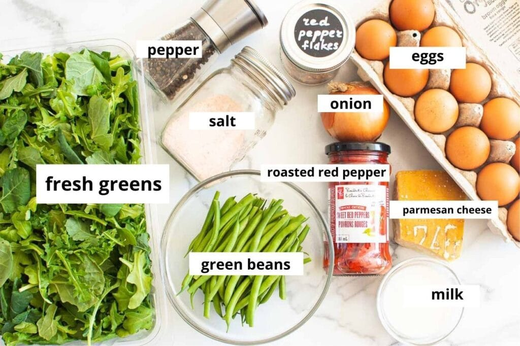 ingredients for vegetable frittata