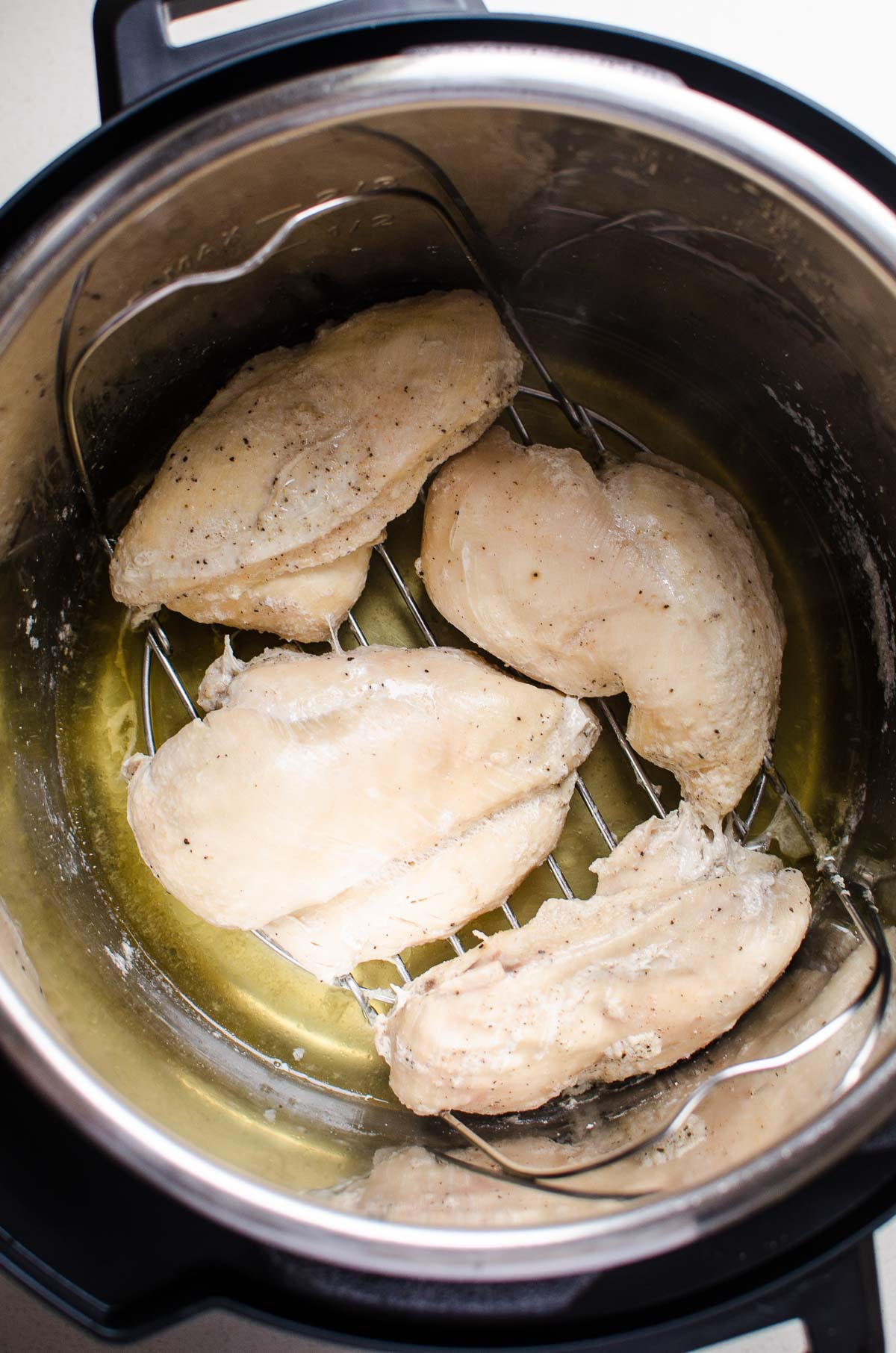 Instant Pot chicken breast on a trivet