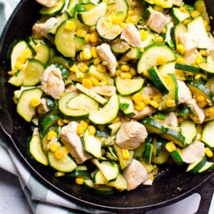 Garlic Zucchini, Chicken and Corn Recipe