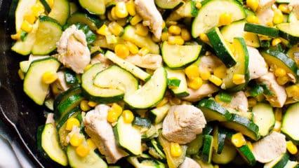 Garlic Zucchini, Chicken and Corn Recipe
