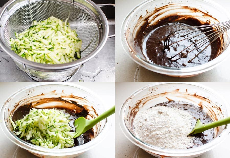 How to make healthy zucchini brownies step by step