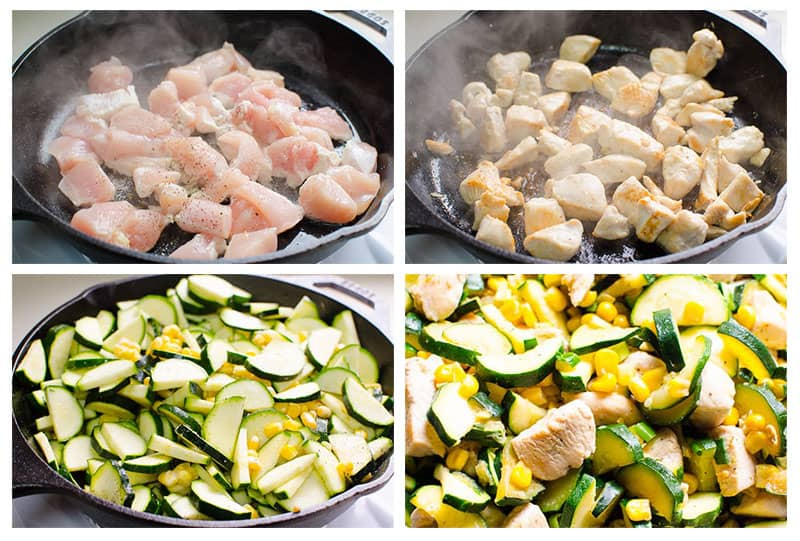 how to make corn chicken step by step collage