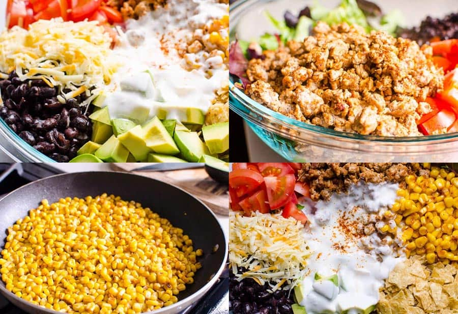 How to make easy Healthy Taco Salad step by step