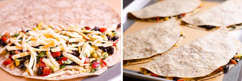 how to make vegetarian quesadilla step by step