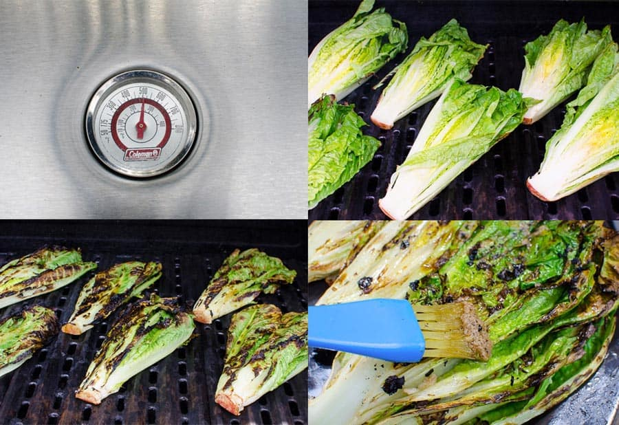 how to grill romaine on bbq