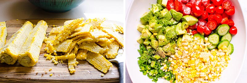 how to make corn avocado salad