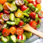 ensalada de tomate pepino