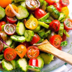 Cucumber and Tomato Salad (Video)