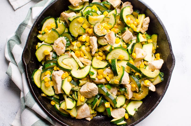 Chicken Zucchini and Corn
