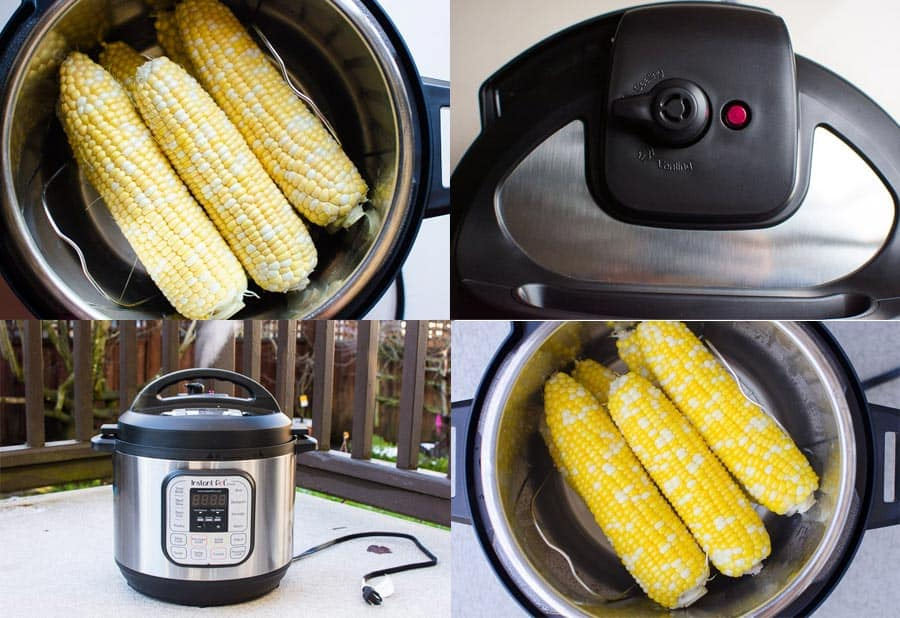 How to make corn on the cob in Instant Pot step by step