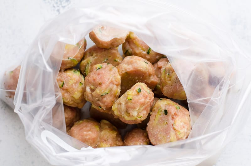 Healthy Turkey Meatballs Recipe without breadcrumbs baked in the oven until juicy inside and golden outside. So easy, double the recipe and freeze.