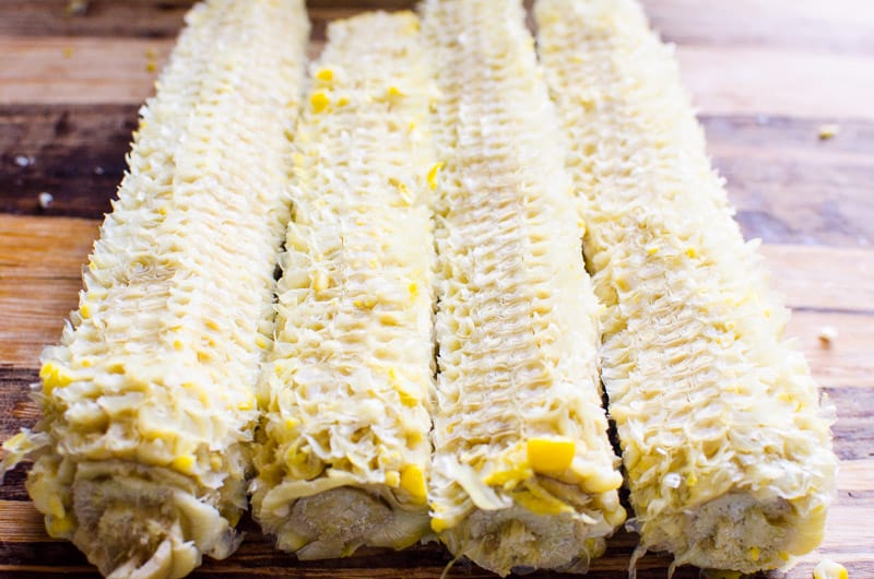 This Mexican Street Corn Salad Recipe is an easy and healthy representation of Mexican street corn on the cob called elotes. Bring as a dip or salad to a potluck.