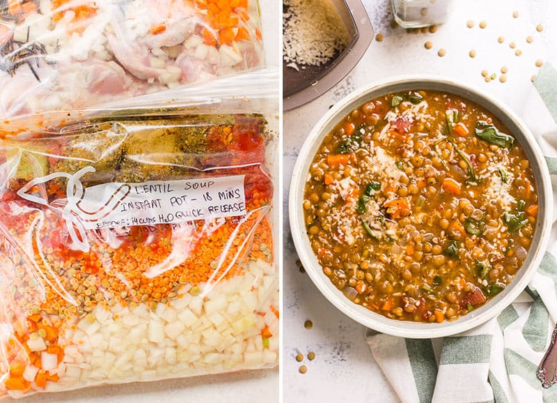 lentil soup freezer meal