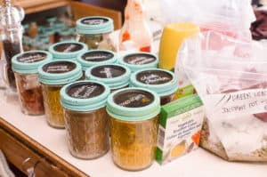spices, stock and seasonings for Healthy Slow Cooker Freezer Meals