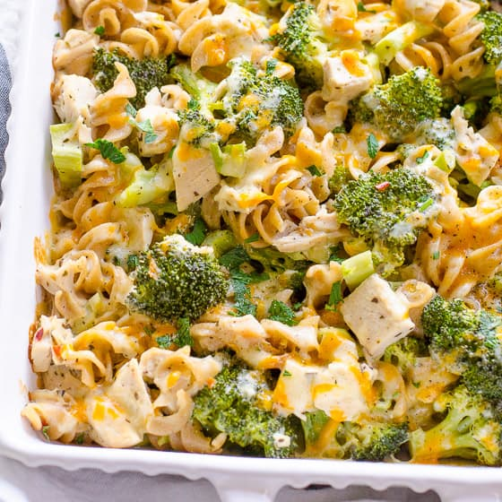 Healthy Chicken Broccoli Casserole - Ifoodreal - Healthy -3389
