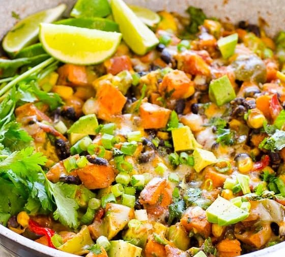 Tex Mex Skillet Sweet Potatoes