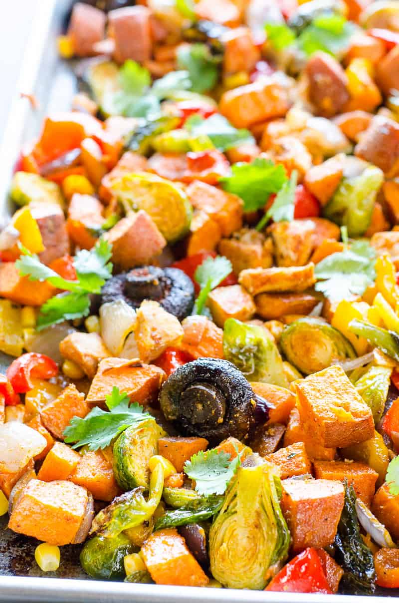 25 Easy Healthy Dinner Recipes -  One Pan Chicken and Veggies