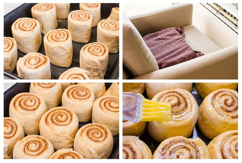 These healthy cinnamon rolls have 4 times less sugar than other recipes and yet are fluffy with healthy frosting on top.