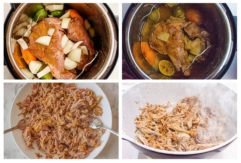 how to make Instant Pot Carnitas step by step